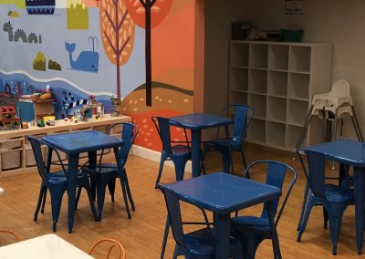 Host your friends and family at our cafe area
